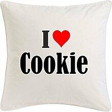 Kissenbezug I Love Cookie 40cmx40cm aus Mikrofaser