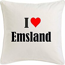 Kissenbezug I Love Emsland 40cmx40cm aus