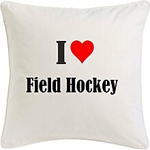 Kissenbezug I Love Field Hockey 40cmx40cm aus