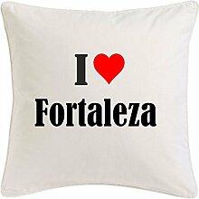 Kissenbezug I Love Fortaleza 40cmx40cm aus
