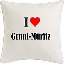 Kissenbezug I Love Graal-Müritz 40cmx40cm aus