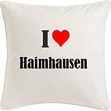 Kissenbezug I Love Haimhausen 40cmx40cm aus
