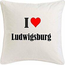 Kissenbezug I Love Ludwigsburg 40cmx40cm aus