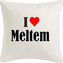 Kissenbezug I Love Meltem 40cmx40cm aus Mikrofaser