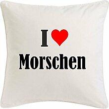 Kissenbezug I Love Morschen 40cmx40cm aus