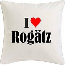Kissenbezug I Love Rogätz 40cmx40cm aus