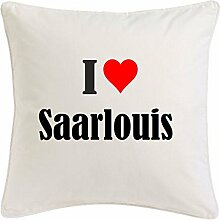 Kissenbezug I Love Saarlouis 40cmx40cm aus