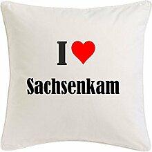 Kissenbezug I Love Sachsenkam 40cmx40cm aus
