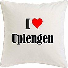 Kissenbezug I Love Uplengen 40cmx40cm aus
