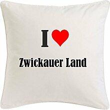 Kissenbezug I Love Zwickauer Land 40cmx40cm aus