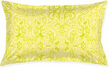 Kissenbezug, Jugendstil, 50,8 x 76,2 cm, Gelb