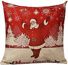 Kissenbezug Kissenhülle Christmas Weihnachten Haus Dekoration 45 x 45 cm