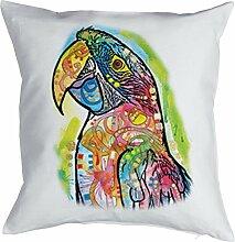 Kissenbezug Macaw Papagei Motiv USA Papageien Vogel Polster Geschenk Geschenkidee zum Geburtstag