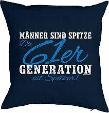 Kissenbezug Männer 61er Generation ist spitzer! Geschenk zum 57 Geburtstag Geschenkidee zum Geburtstag Polster zum 57. Geburtstag für 57-jähirge