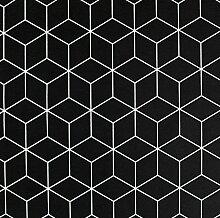 Kissenbezug Max schwarz mit Muster in weiß ca.40x40cm