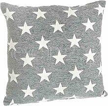 Kissenbezug mit kleinen Sternen 45x45cm in grau