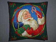 Kissenbezug mit Weihnachtsmann und Geschenke 40x40cm