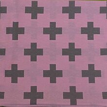 Kissenbezug Mo pink mit Kreuz in anthrazit ca.40x40cm