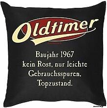 Kissenbezug Oldtimer 1967 zum Geburtstag Geschenkidee Kopfkissen Polster lustige Idee zum 50 Geburtstag Jahrgang 1967
