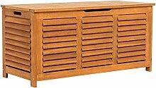 Kissenbox - Auflagenbox aus Eukalyptusholz - Natur, geölt - ca. B125 x T55 x H61 cm