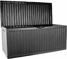 KISSENBOX Gartentruhe Truhe Gartenbox|330L|120x52x54cm|Kunststoff|anthrazi