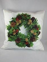 Kissenhülle 40x40 Advent Weihnachten Adventskranz