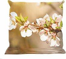 Kissenhülle Blütenzauber - tolles Motivkissen - gardinen-for-life Collection (40 x 40 cm) Kissenbezug, Sofakissen