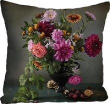 Kissenhülle Blumenstrauß, queence (1 Stück)