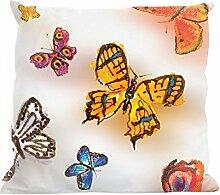 Kissenhülle Butterfly 3- tolles Motivkissen - gardinen-for-life Collection (40 x 40 cm) Kissenbezug, Sofakissen