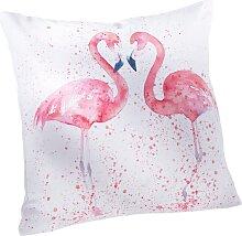 Kissenhülle Flamingo, beige
