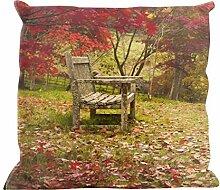 Kissenhülle Herbstlichtung - tolles Motivkissen - gardinen-for-life Collection (40 x 40 cm) Kissenbezug, Sofakissen