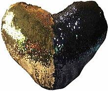 Kissenhülle Kissenbezug Jamicy® Liebe For Doppelfarben Sequins Sofabett Ausgangsdekoration Kissen Kissenbezug (D)
