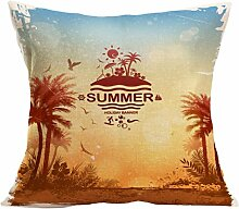 Kissenhülle Kissenbezug Jamicy® Sommer Strand Sofabett Ausgangsdekoration für Dekokissen Sofakissen Cocktailkissen Kopfkissen 43cm*43cm (H)