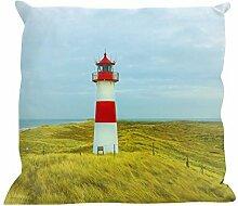 Kissenhülle Leuchtturm - tolles Motivkissen - gardinen-for-life Collection (40 x 40 cm) Kissenbezug, Sofakissen