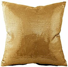Kissenhülle mit Pailletten - Gold - Silber -