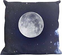 Kissenhülle Moon - tolles Motivkissen - gardinen-for-life Collection (40 x 40 cm) Kissenbezug, Sofakissen