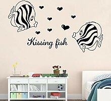 Kissing Fish Wandaufkleber für Kinderzimmer