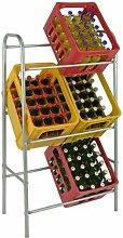Kistenregal Flaschenkasten - Regal Ständer für