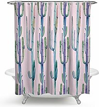 kisy Kaktus Wasserdicht Bad Duschvorhang TROPICAL grün Pflanzen Badezimmer Dusche Vorhang Standard Größe 177,8x 177,8cm Pink Grün