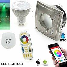 Kit 2 SMART LED Einbaustrahler quadratisch
