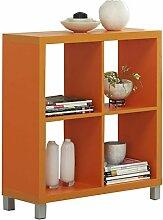 Kit Closet Kubox - Regal, 4 Fächer, orange
