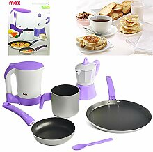Kit Frühstück Set 5Stück mit Wasserkocher