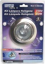 Kit-Halogenlampe mit Spot Rund Schwenkbar 230V