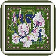 Kit inklusive Stickerei |Orchideen (8)