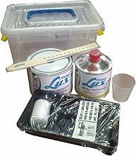 Kit komplett Malerei Effekt glänzend Happy Lux weiß glänzend Reichweite 4.50qm Hand