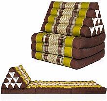 Kitama Dreieckskissen Thaikissen mit 3 Auflagen