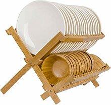 Kitchen Abtropfgestell Faltbarer Bambus