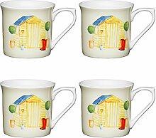 Kitchen Craft AMZKCMFLT22SET4 Kelchförmige Tassen