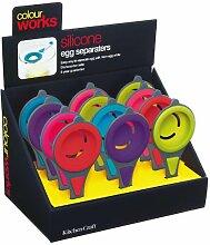 Kitchen Craft Colourworks Eiertrenner mit Etikett,