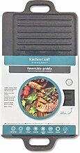 Kitchen Craft Deluxe Grillplatte aus Gusseisen